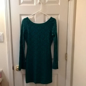 Tart Turquoise Lace BodyCon Dress Medium